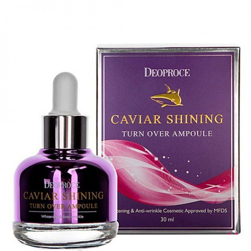 Сыворотка для лица с экстрактом икры, Deoproce Shining turn over ampoule 30мл
