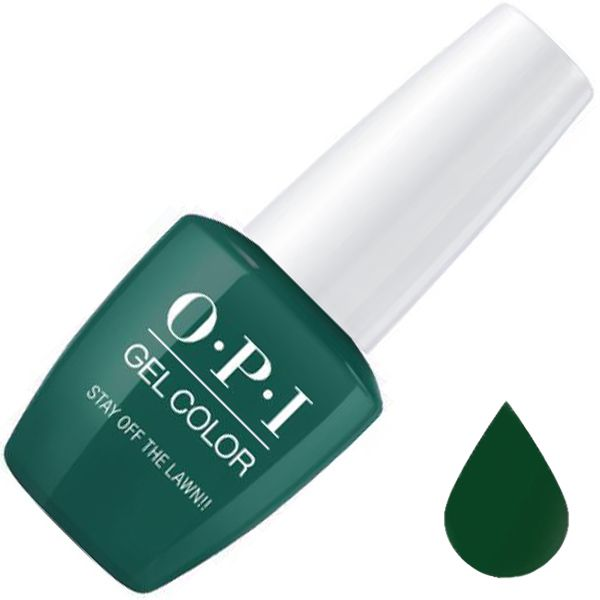 OPI, GelColor, Гель-лак, Stay Off the Lawn!!, 15 мл
