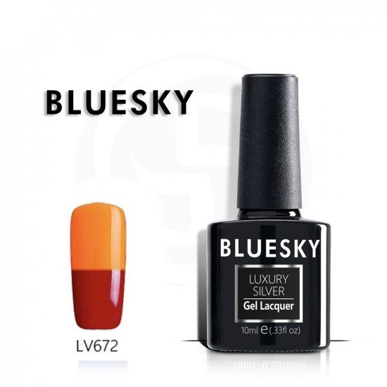 BLUESKY Luxury Silver Гель-лак 10мл LV672 ТЕРМО