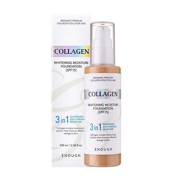 Тональная основа Коллаген 3 в 1 тон №23, Enough Collagen 3in1 Foundation №23 100мл