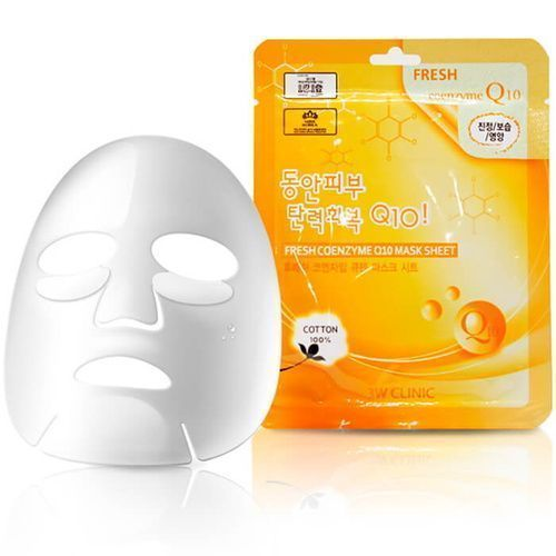Тканевая маска для лица с коэнзимом, 3W CLINIC, Fresh Coenzyme Q10 Mask Sheet
